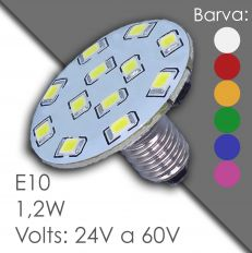 Led E10 - AC 24V, 60V, в резине