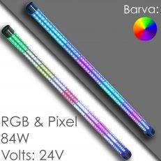 Светодиодные трубки бампера на авто - 360° 24В - RGB / Pixel
